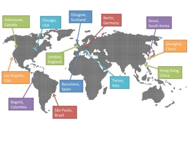 social media week world map
