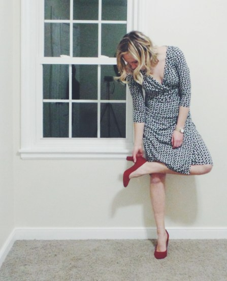 Ralp-Lauren-Chains-Print-Dress-Red-Shoes