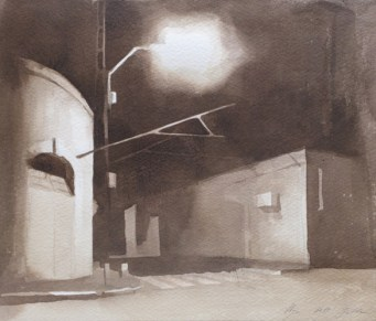 Street-in-Jaffa-6-28x38cm, ink on paper