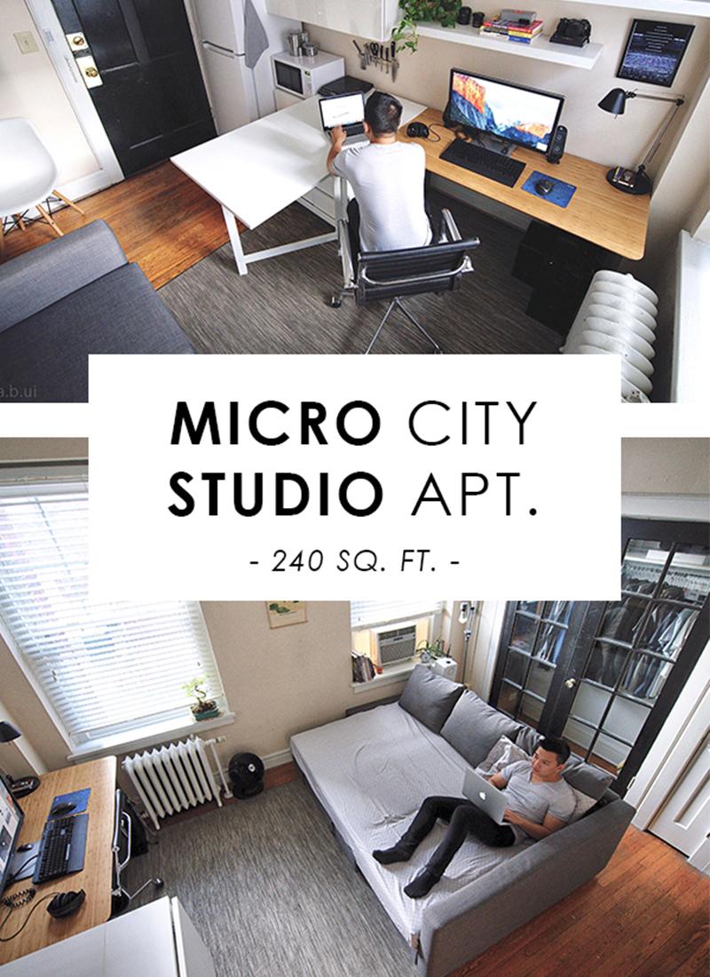 Micro Studio in the City Apartment Tour