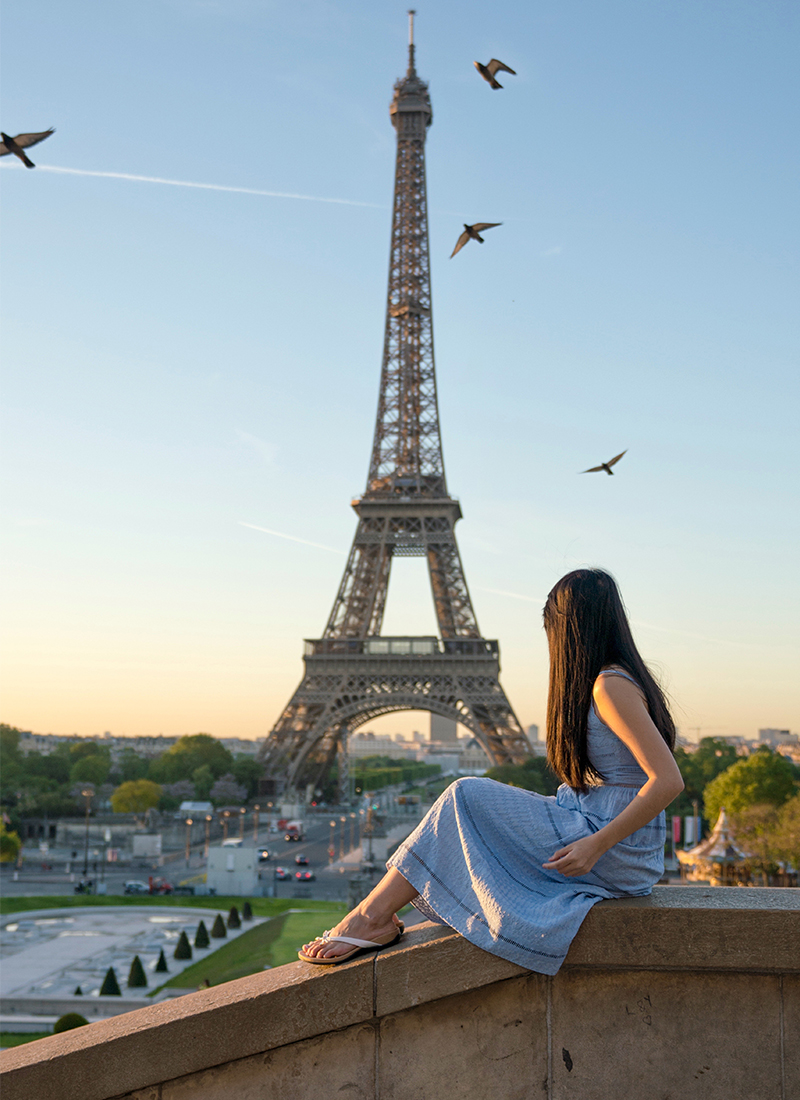 Outfit of the Day: Eiffel Tower Blue Dress