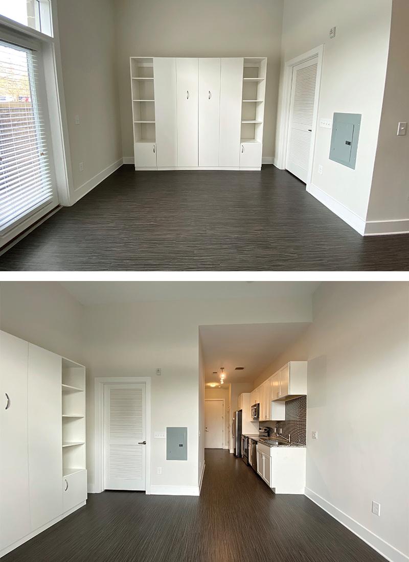 450 Sq. Ft. Studio Apartment – Empty & Unfurnished – $1030 Rent