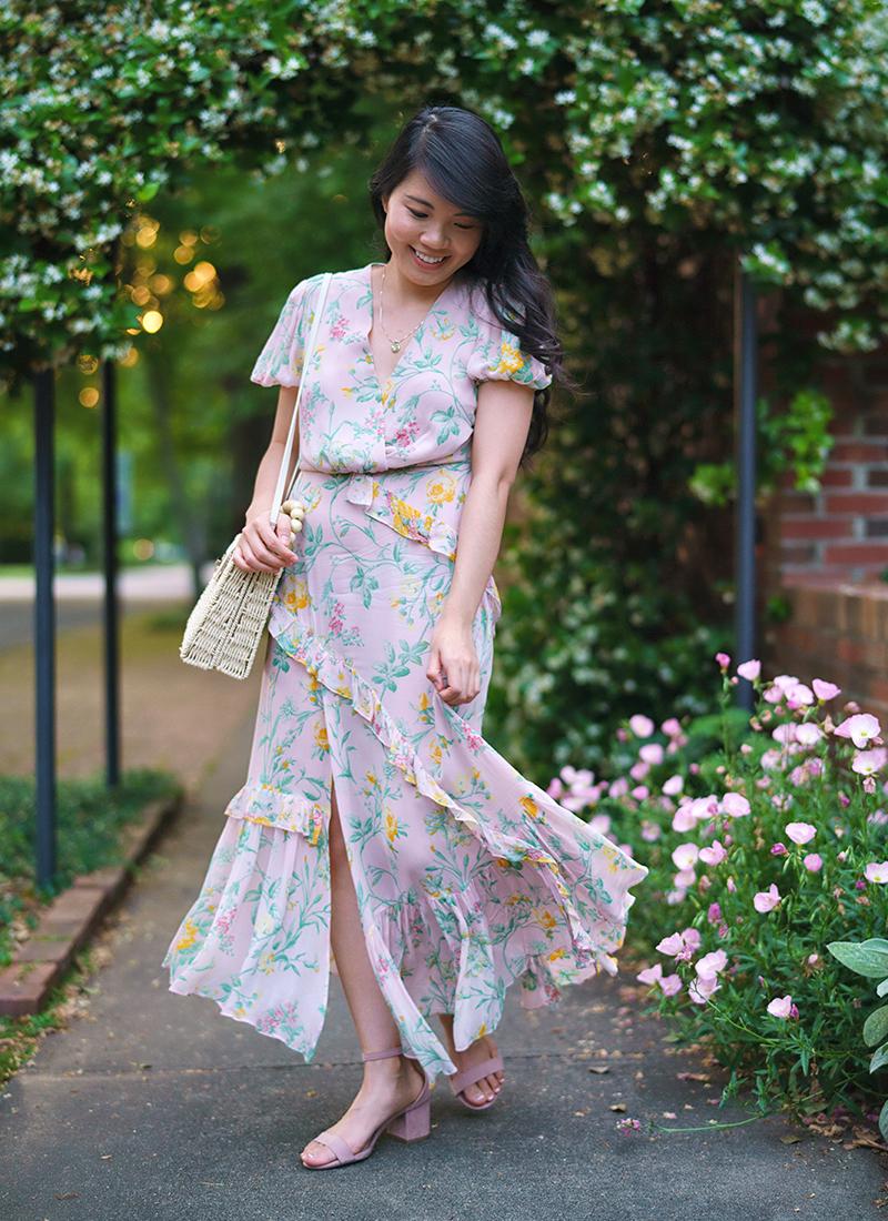Outfit Inspo:  Romantic Blush Pink Floral Dress
