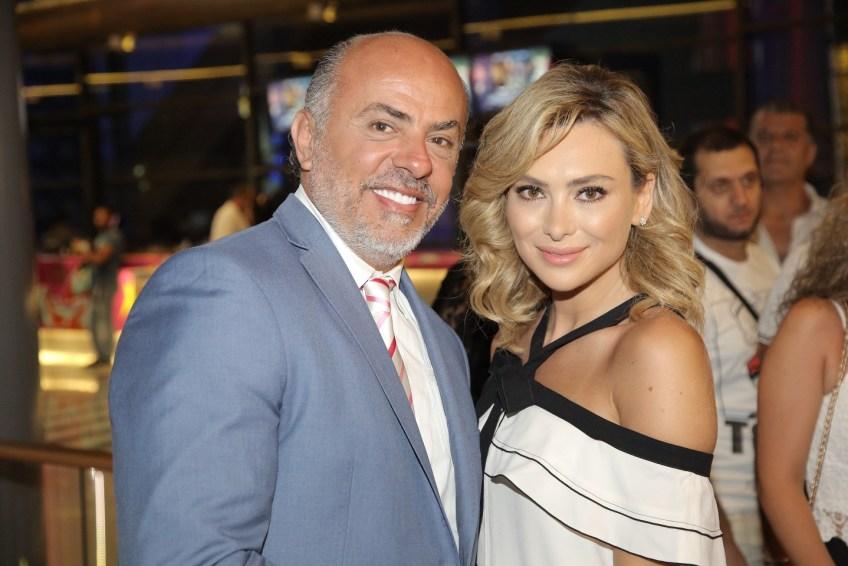الممثلة ستيفاني صليبا والممثل وجيه صقر