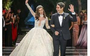 فستان زفاف لارا اسكندر من توقيع زهير مراد.. فكيف بدت؟