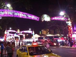 Deepawali lights in Little India
