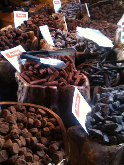 Chocolates at Borough Market in London