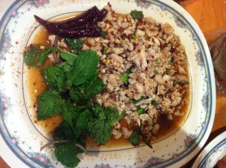 Larb Gai (Minced Chicken)