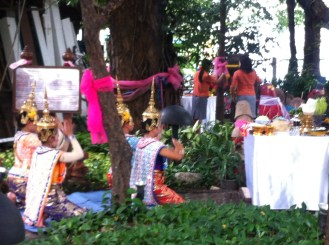 Traditional Dancers at the Shrine