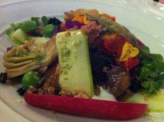 Summer Vegetables with Jamon Crumb