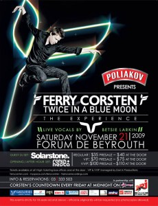 Ferry Corsten: Twice in a Blue Moon Live in Beirut