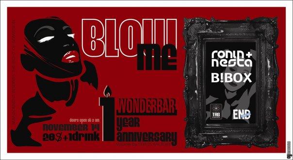 blow me wonderbar beirut anniversary