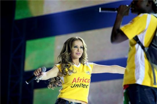 Rola Saad in the Opening ceremony of the FIFA World Cup 2010