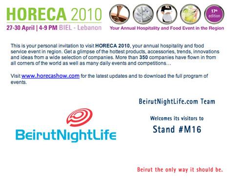 BeirutNightLife participates in HORECA 2010