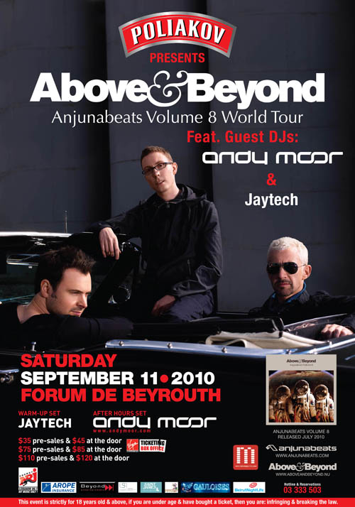 Above & Beyond in Lebanon: Anjunabeats Volume 8 World Tour (2010)