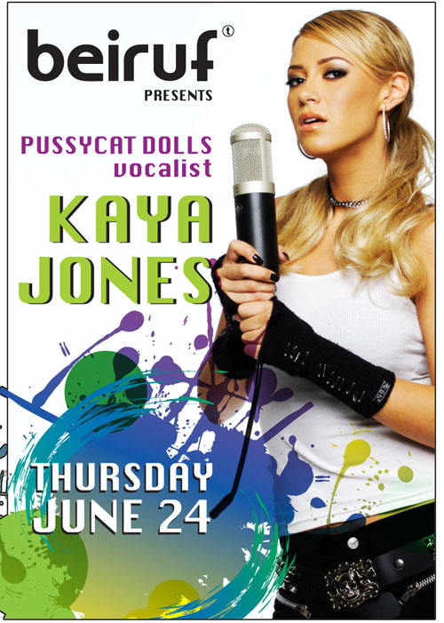 Pussycat Dolls vocalist KAYA JONES Live at Beiruf & Sepia June 24th