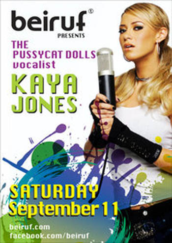 Pussycat Dolls vocalist KAYA JONES Live at Beiruf