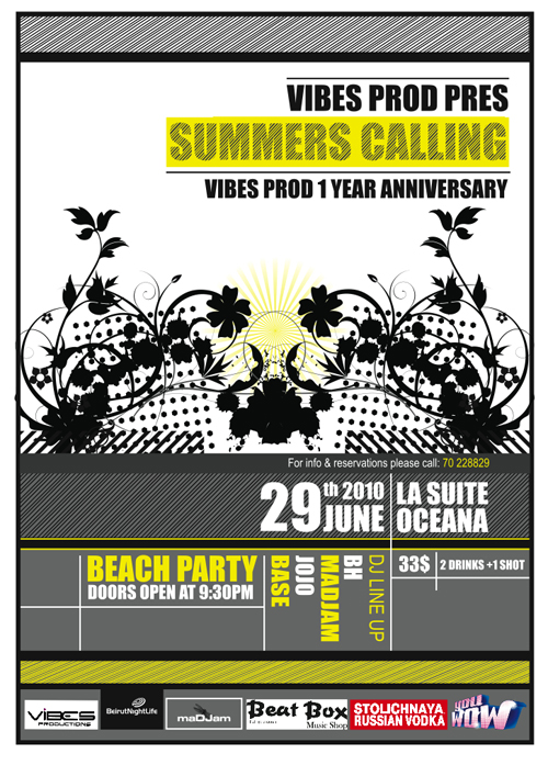 VIBES PROD pres. SUMMER'S CALLING (1 YEAR ANNIVERSARY)