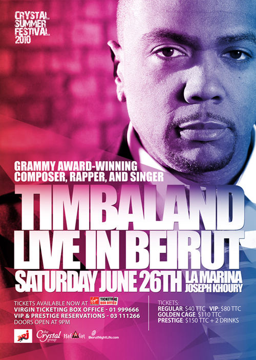 Superstar Singer & Producer Timbaland Live at La Marina- June 26th