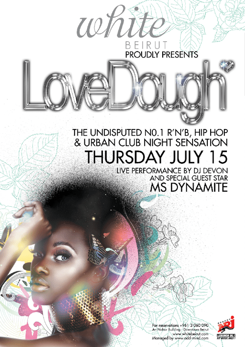 LoveDough at White Beirut- July 15th