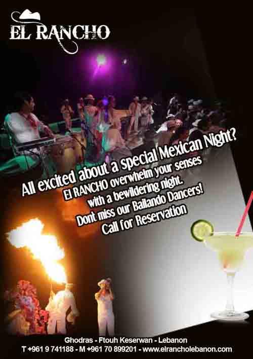 El Rancho Mexican night