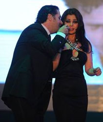 Haifa Wehbe And Ragheb Alama In New Year's Eve Together At Biel