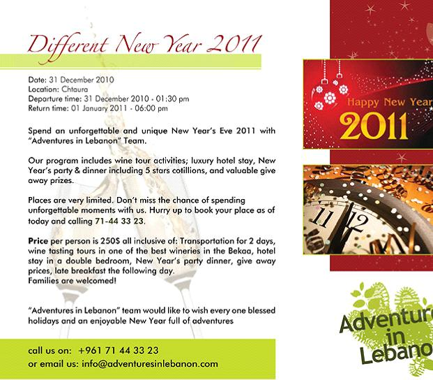 Different New Year With Adventures In Lebanon - BNL