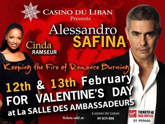 Alessandro Safina And Cinda Ramseur At Casino Du Liban