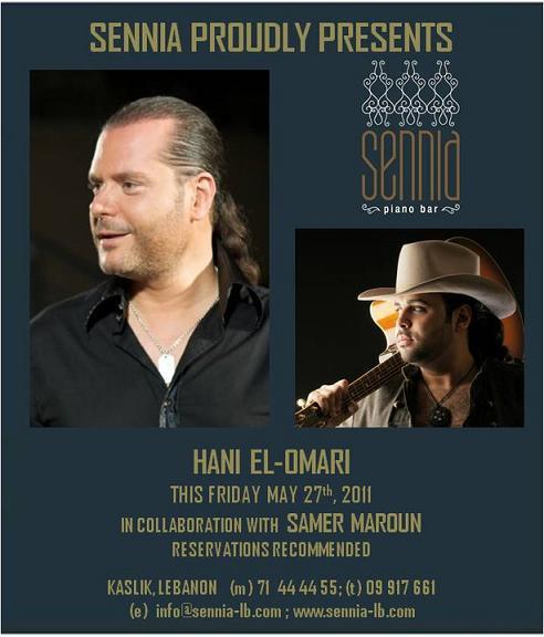 Hani El Omari In Collaboration With Samer Maroun At Sennia
