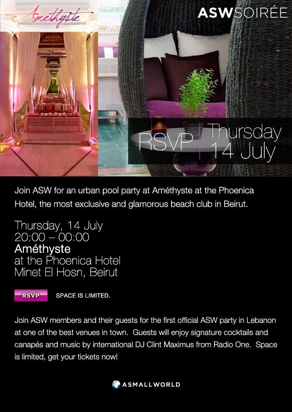 ASW First Official Soiree In Beirut At Amethyste