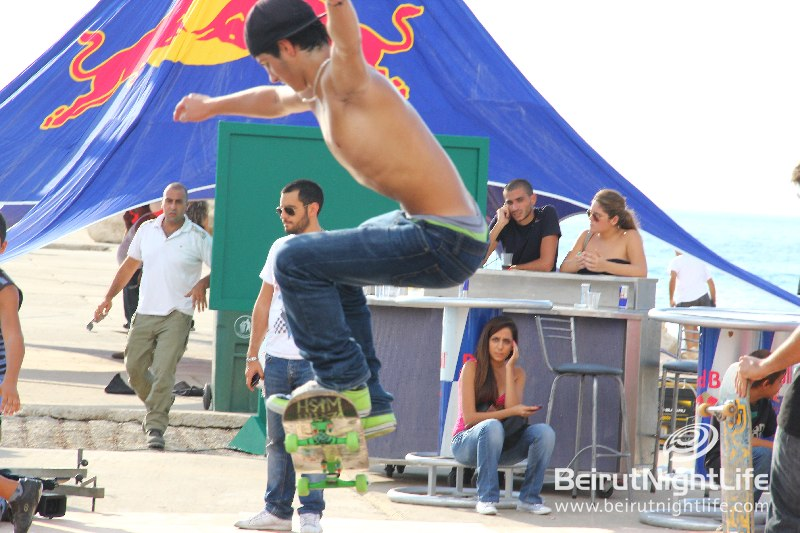 Redbull Sponsors a Rad Skateboarding Event at the Byblos Marina