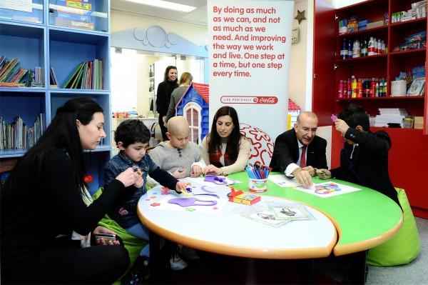 Coca-Cola Upgrades Play Area at Children Cancer Center