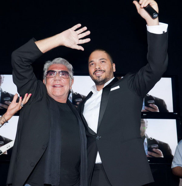 Ramy Ayach and Roberto Cavalli Together at Dubai's Cavalli Club