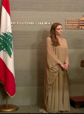 Angelina Jolie in Lebanon