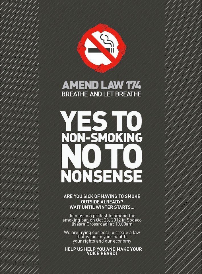 Yes to NON-Smoking.. NO to Nonsense
