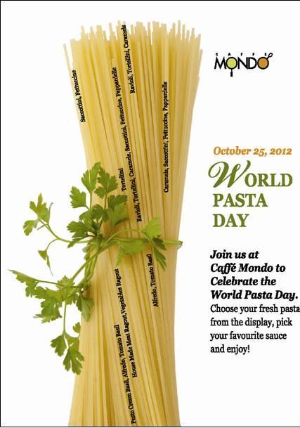 World Pasta Day At Caffé Mondo