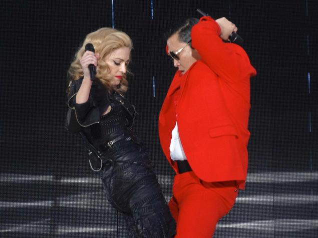 Madonna and Psy…Gangnam Style