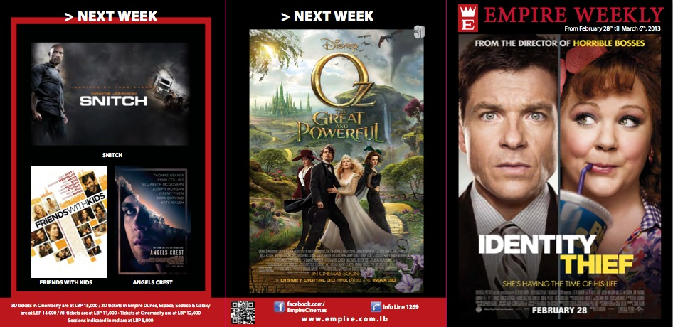 Weekly Movie Picks with Empire Cinemas' Schedule