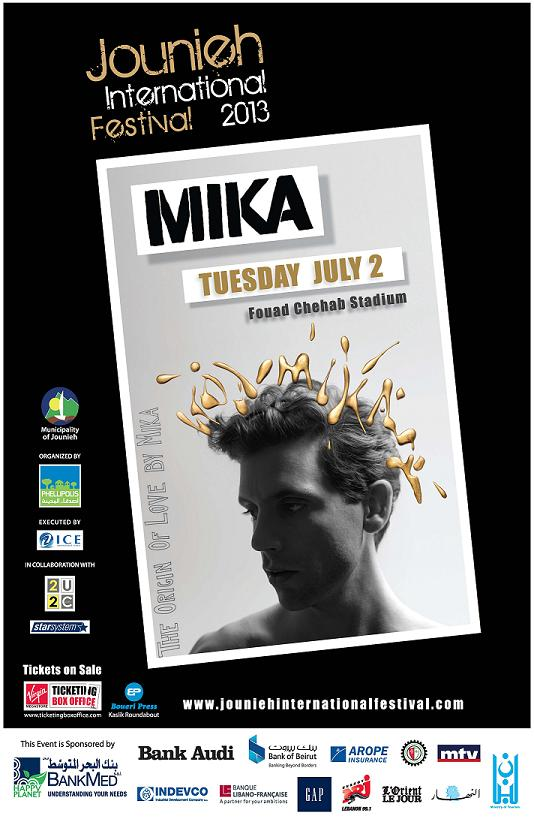 Mika at Jounieh Festival