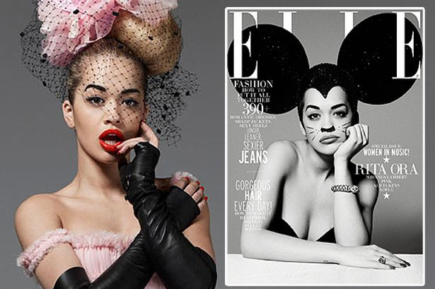 Rita Ora looks Hot Right Now in her first US cover shoot for ELLE