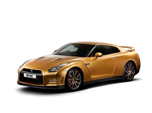 Usain Bolt golden again with unique Nissan GT-R