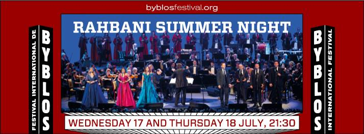 Rahbani Summer Night at Byblos International Festival