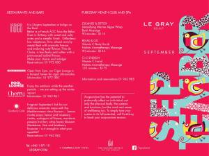 Why Not Spend Your September at Le Gray?