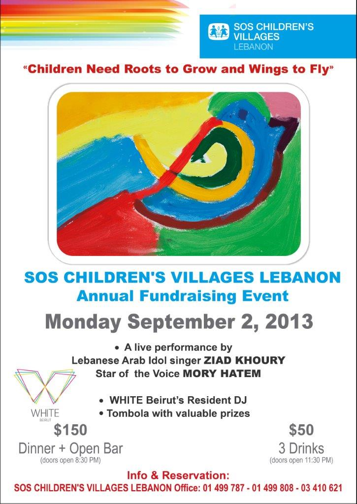 SOS Children's Villages Lebanon Annual fundraising event