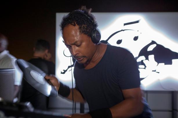 Derrick May performs at Bar360 during the RedBull Music Academy Basecamp Dubai Club Night 1, United Arab Emirates September 26, 2013