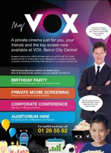 A private cinema just for you, your friends and the big-screen in 'myVOX'