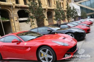 Ferrari Cars on Display at Beirut Souks for F1 Weekend