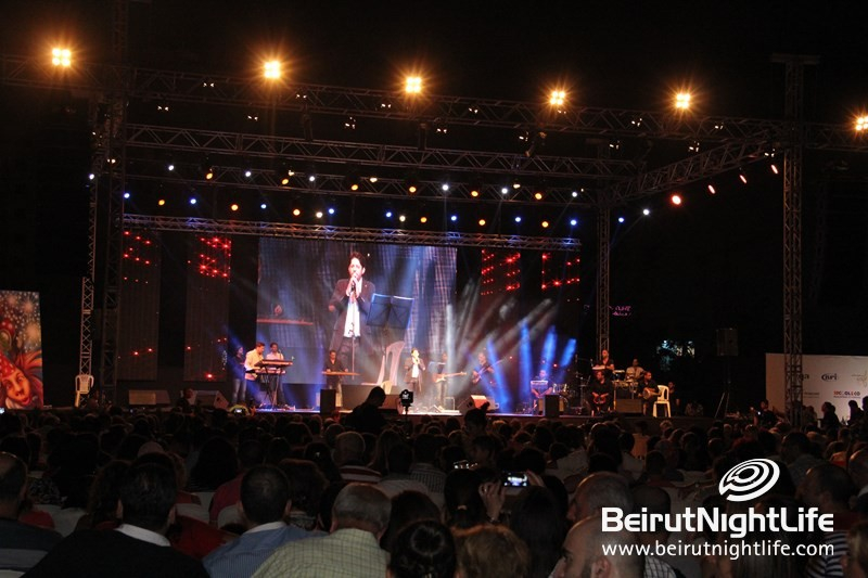 Mouin Shreif on Stage at Dbayeh Festival 2014