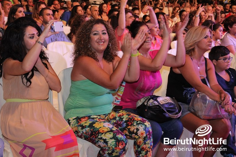 Crowds at Dbayeh Festival 2014 Cheer for Zein El Omar