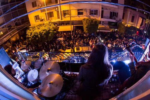 The street of Mar Mikhael danced as local bands, Postcards and Safar, performed on a balcony last weekend!